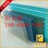 可定制规格中空湖蓝阳光板840型双层阳光板pc蜂窝阳光板