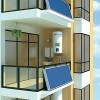 郑州恒凯能源壁挂式新型平板太阳能热水器,太阳能热水器厂家