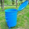 环卫圆桶 300升挂车铁垃圾桶 材料环保美观耐用