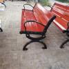 园林椅 防腐木大八字铸铝脚等候椅休闲椅质优价低