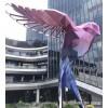 上海 大型抽象艺术鸟雕塑 不锈钢几何动物摆件