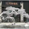 大型室外不锈钢雪松雕塑 定制观景松树摆件