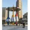 不锈钢城市标志组合雕塑 大型金属镜面摆件