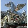 园林大型不锈钢飞马雕塑 企业门口马群景观