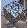 不锈钢镂空文字魔方雕塑 镜面方形摆件