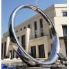 别墅区不锈钢圆摆件 大型镜面指环雕塑
